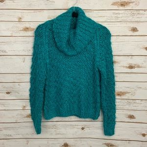 Chelsea & Theodore Chunky Soft Cowlneck Sweater S